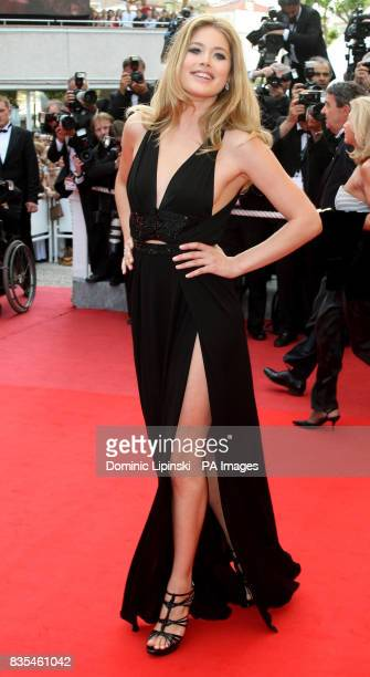 Doutzen Kroes arrives at the premiere of 'Vengeance' at the Palais des Festivals in Cannes France part of the 62nd annual Cannes Film Festival