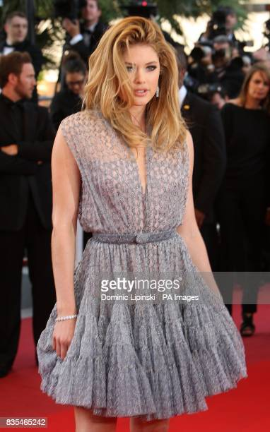 Doutzen Kroes arriving for the official screening of Looking For Eric at the Palais de Festival during the 62nd Cannes Film Festival France