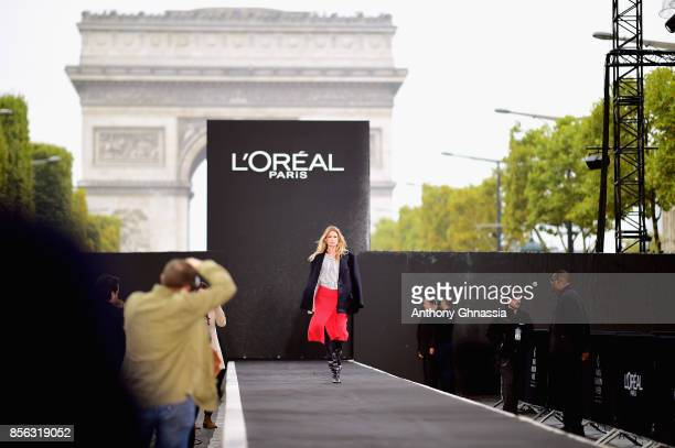 Doutzen Kroes at the rehearsal before Le Defile L'Oreal Paris as part of Paris Fashion Week Womenswear Spring/Summer 2018 at Avenue Des Champs...