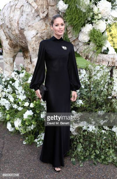 Doutzen Kroes attends a dinner hosted by Doutzen Kroes and Lucy Yeomans in honour of Save the Elephants at The Orangery on June 12 2017 in London...