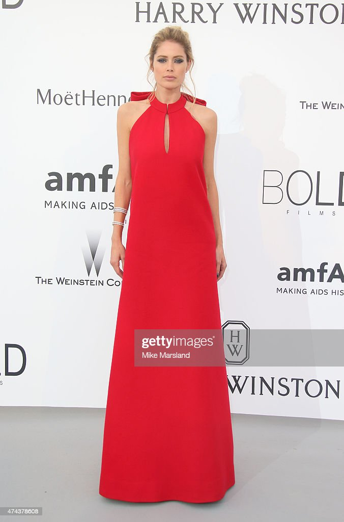 Doutzen Kroes attends amfAR's 22nd Cinema Against AIDS Gala, Presented By Bold Films And Harry Winston at Hotel du Cap-Eden-Roc on May 21, 2015 in Cap d'Antibes, France.