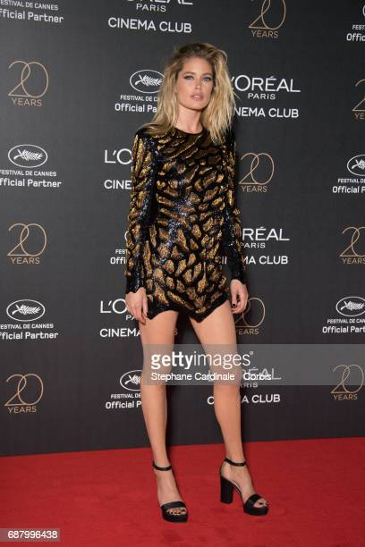 Doutzen Kroes attends Gala 20th Birthday of L'Oreal In Cannes during the 70th annual Cannes Film Festival at Martinez Hotel on May 24 2017 in Cannes...
