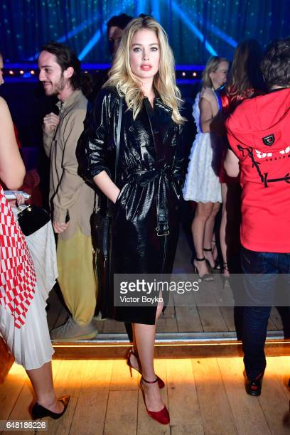Doutzen Kroes attends Natalia Vodianova's birthday Vogue Cabaret Party as part of the Paris Fashion Week Womenswear Fall/Winter 2017/2018 on March 4...
