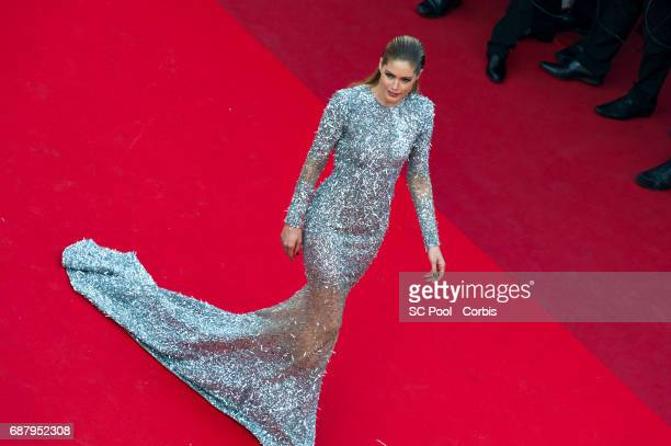 Doutzen Kroes attends 'The Beguiled' premiere during the 70th annual Cannes Film Festival at Palais des Festivals on May 24 2017 in Cannes France