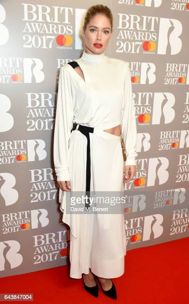 ONLY Doutzen Kroes attends The BRIT Awards 2017 at The O2 Arena on February 22 2017 in London England