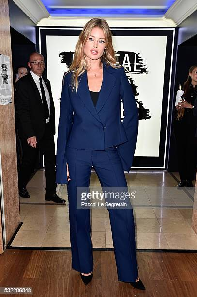 Doutzen Kroes attends the L'Oreal Paris Blue Obsession Party at the annual 69th Cannes Film Festival at Hotel Martinez on May 18 2016 in Cannes France