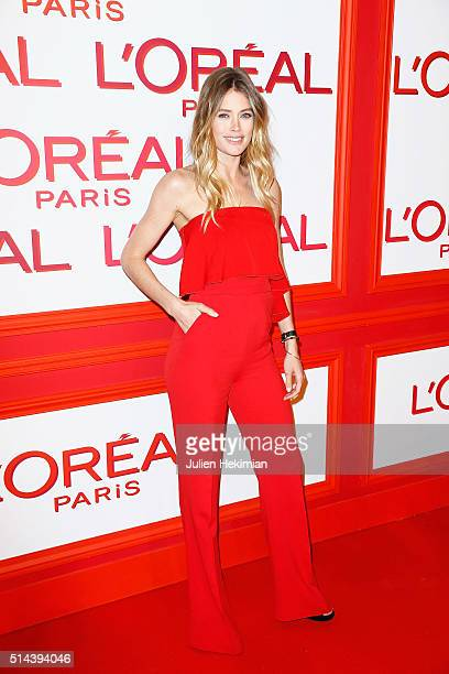 Doutzen Kroes attends the L'Oreal Red Obsession Party during Paris Fashion Week Womenswear Fall/Winter 2016/2017 on March 8 2016 in Paris France