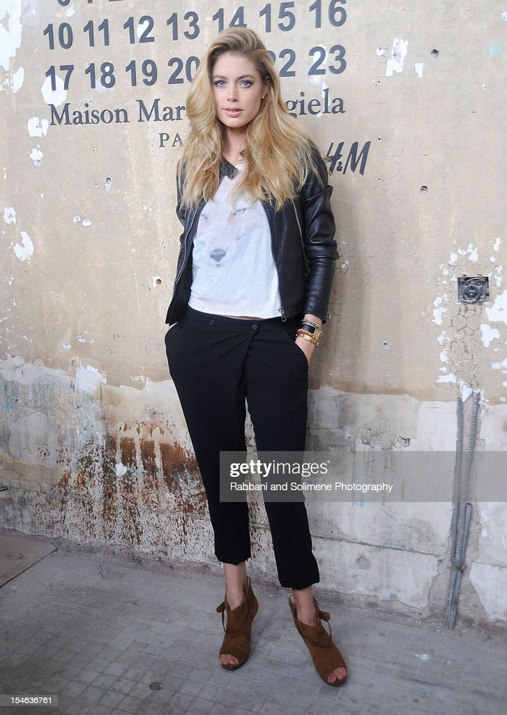 Doutzen Kroes attends the Maison Martin Margiela with H&M global launch event at 5 Beekman on October 23, 2012 in New York City.