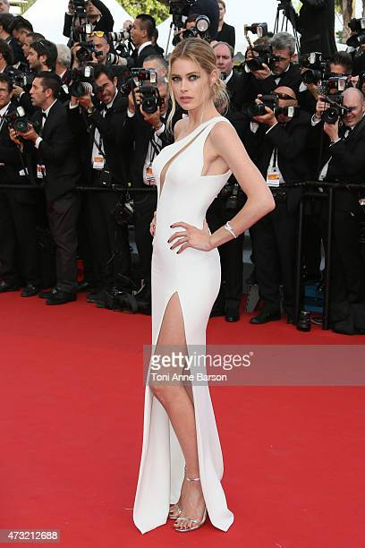 Doutzen Kroes attends the opening ceremony and 'La Tete Haute' premiere during the 68th annual Cannes Film Festival on May 13 2015 in Cannes France