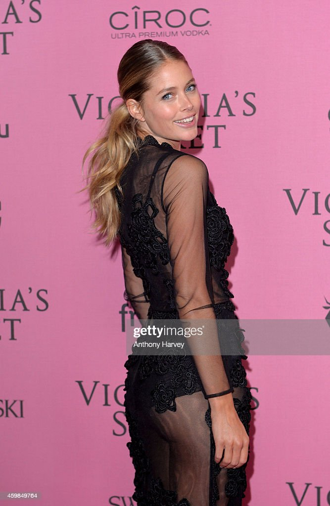<a gi-track='captionPersonalityLinkClicked' href=/galleries/search?phrase=Doutzen+Kroes&family=editorial&specificpeople=859655 ng-click='$event.stopPropagation()'>Doutzen Kroes</a> attends the pink carpet of the 2014 Victoria's Secret Fashion Show on December 2, 2014 in London, England.