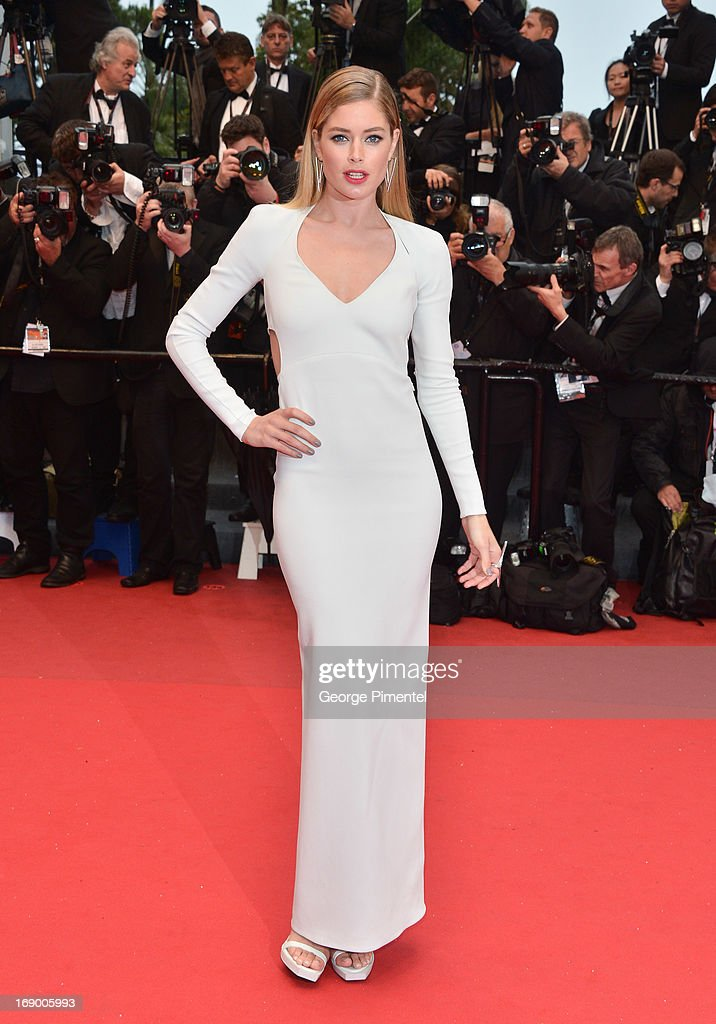 Doutzen Kroes attends the Premiere of 'Jimmy P. (Psychotherapy Of A Plains Indian)' at The 66th Annual Cannes Film Festival on May 18, 2013 in Cannes, France.