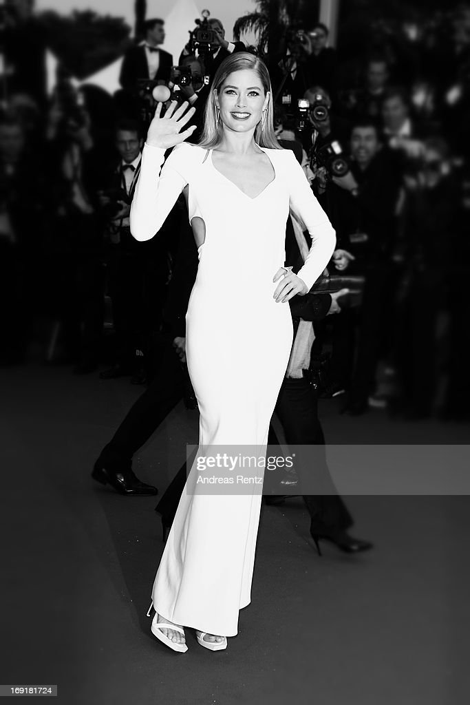 Doutzen Kroes attends the Premiere of 'Jimmy P. (Psychotherapy Of A Plains Indian)' during the 66th Annual Cannes Film Festival at the Palais des Festivals on May 18, 2013 in Cannes, France.