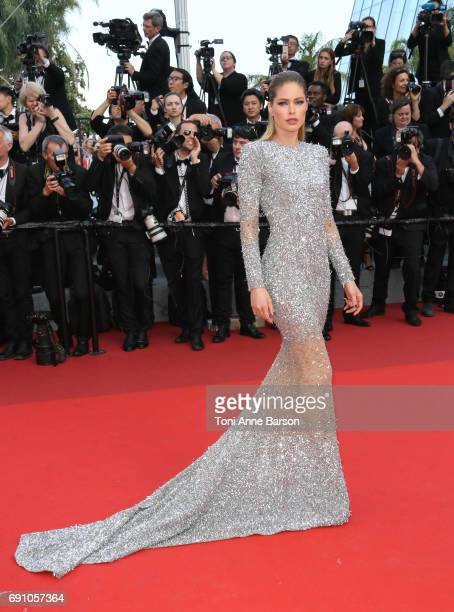 Doutzen Kroes attends the 'The Beguiled' screening during the 70th annual Cannes Film Festival at Palais des Festivals on May 24 2017 in Cannes France