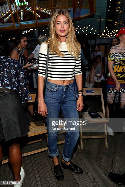 Doutzen Kroes attends the #TOMMYNOW Women's Fashion Show during New York Fashion Week at Pier 16 on September 9 2016 in New York City