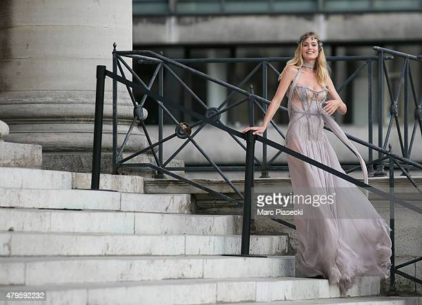 Doutzen Kroes attends the Versace show as part of Paris Fashion Week Haute Couture Fall/Winter 2015/2016 on July 5 2015 in Paris France