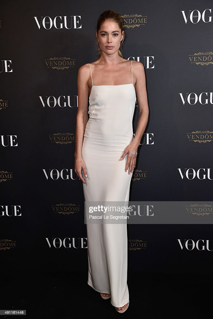 <a gi-track='captionPersonalityLinkClicked' href=/galleries/search?phrase=Doutzen+Kroes&family=editorial&specificpeople=859655 ng-click='$event.stopPropagation()'>Doutzen Kroes</a> attends the Vogue 95th Anniversary Party on October 3, 2015 in Paris, France.