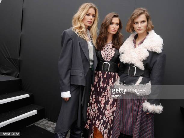 Doutzen Kroes Bianca Balti and Giedre Dukauskaite backstage prior Le Defile L'Oreal Paris as part of Paris Fashion Week Womenswear Spring/Summer 2018...