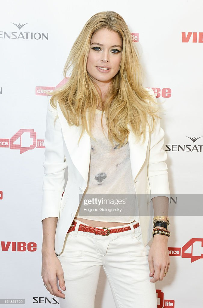Doutzen Kroes dance4life USA Cocktail Party Supported By Sensation at Milk Studios on October 27, 2012 in New York City.