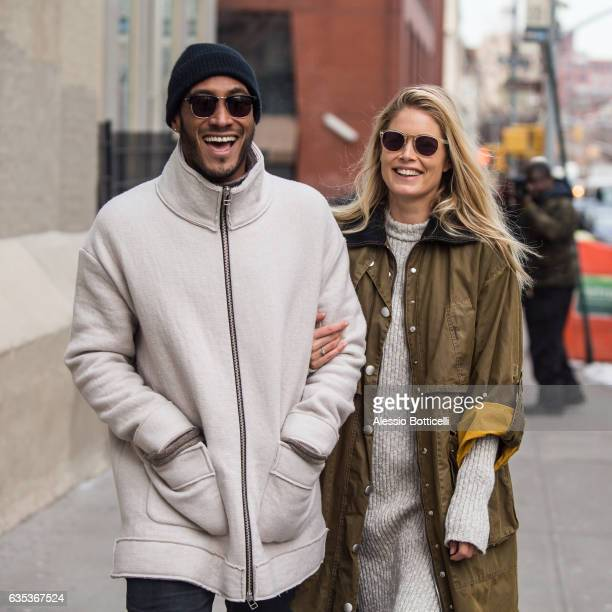 Doutzen Kroes is seen with Sunnery James out shopping for light fixtures in SoHo on February 14 2017 in New York New York