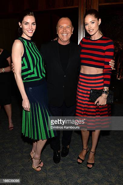 Doutzen Kroes Michael Kors and Hilary Rhoda attend a dinner in honor of Halle Berry as she joins Michael Kors and the United Nations World Food...