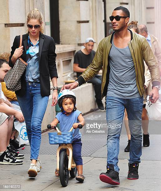 Doutzen Kroes Sunnery James and Phyllon Joy Gorre are seen in Soho on October 5 2013 in New York City