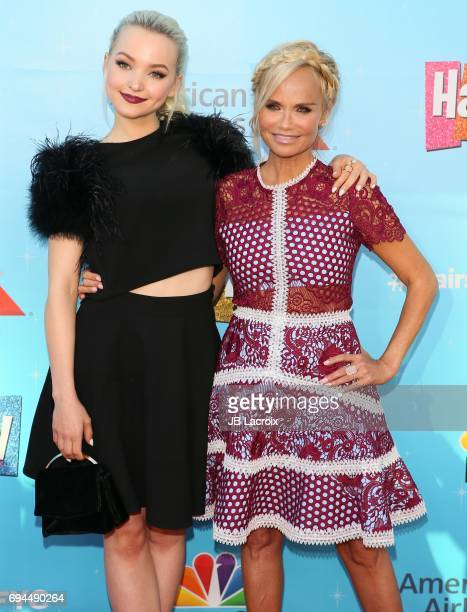 Dove Cameron and Kristin Chenoweth attend NBC's 'Hairspray Live' FYC event on June 09 2017 in North Hollywood California