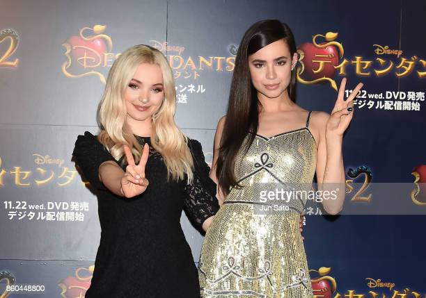 Dove Cameron and Sofia Carson attend the Disney Channel's 'Descendants 2' Premiere at Toranomon Hills on October 12 2017 in Tokyo Japan