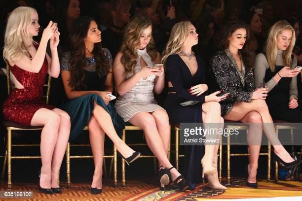 Dove Cameron Bethany Mota Brec Bassinger Jordyn Jones and Danielle Campbell attend the Sherri Hill NYFW Fall 2017 Runway Show during New York Fashion...