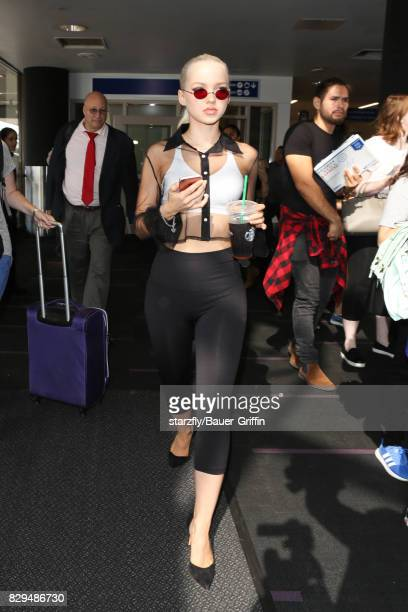 Dove Cameron is seen at LAX on August 10 2017 in Los Angeles California