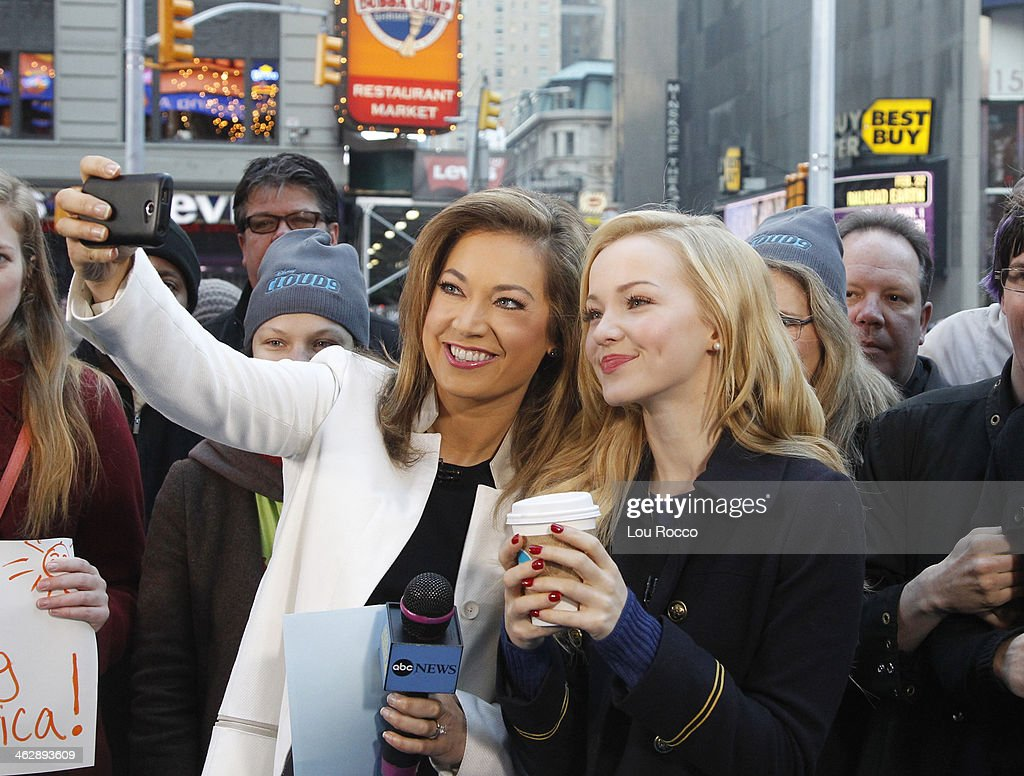 AMERICA - 1/15/14 - Dove Cameron treats fans at 'Good Morning America,' to hot cocoa when she stopped by to talk about the Disney Channel Original Movie 'Cloud 9,' premiering Friday, January 17 (8:00 p.m. ET/PT) on Disney Channel. GINGER