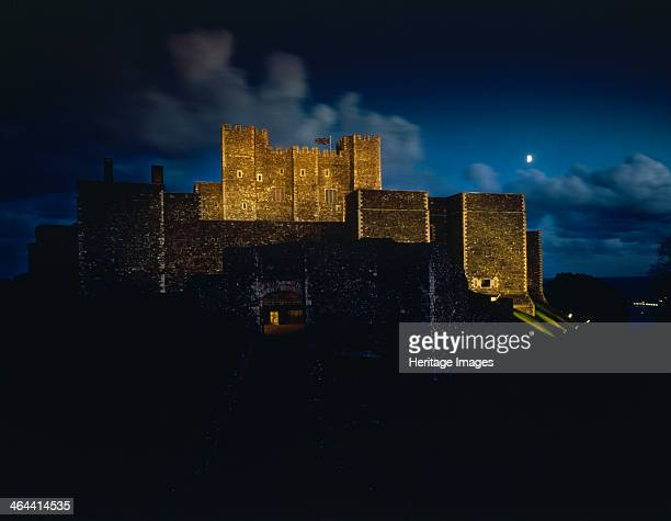 Dover Castle by floodlights Kent 1984