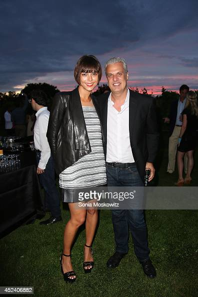 Dovile Drizyte and Eric Ripert attend the 'Let's Misbehave' gala to benefit Love Healsthe Alison Gertz Foundation for AIDS education on July 19 2014...