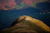 Walkers on Catbells in the English Lake District