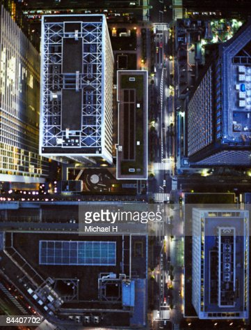 A down shot from the Tokyo sky : Foto de stock