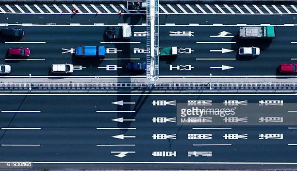 Down shot of highway