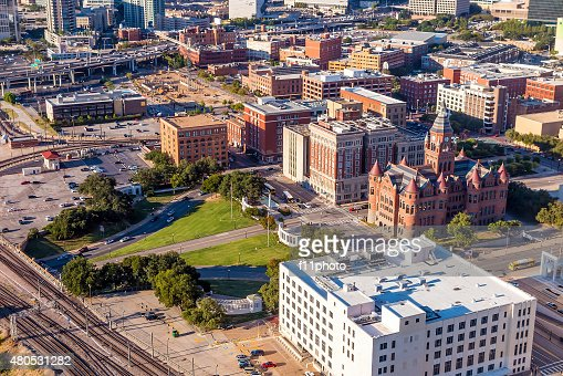 Down town Dallas and Dealey Plaza : Stock Photo