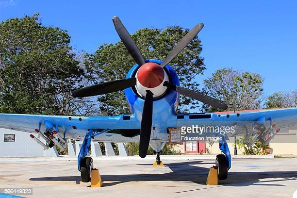 Downed airplane Bay of Pigs Museum Playa Giron Cuba