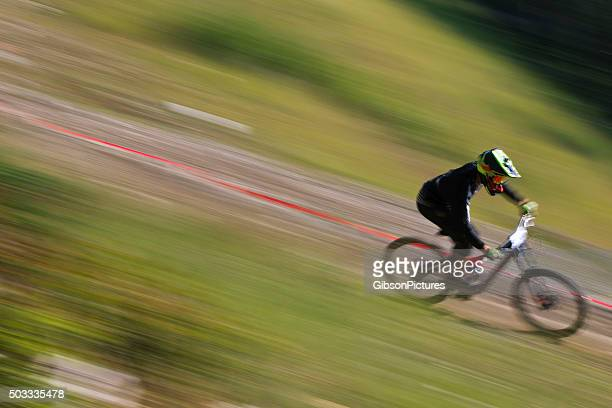 Downhill Mountain Bike Racer