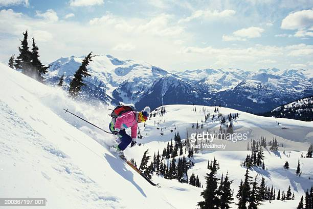 Downhill skier in Whistler, British Columbia