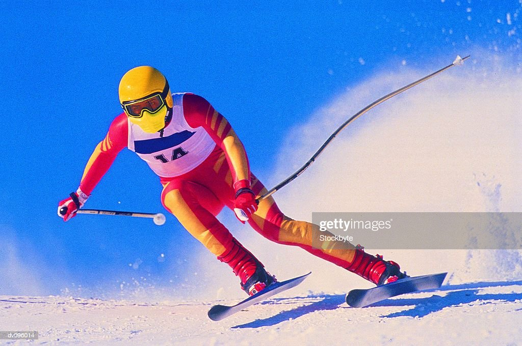 Downhill Skier : Stock Photo