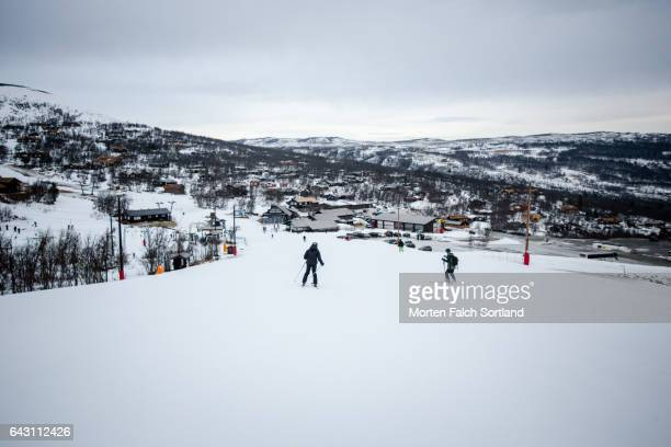 Downhill skiing in Geilo