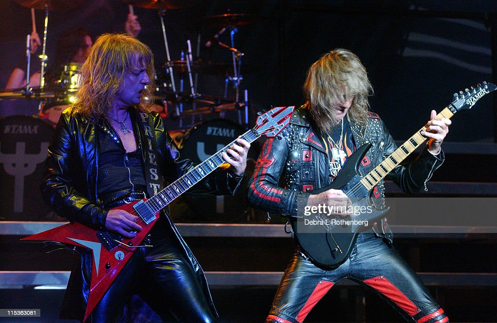 KK Downing and Glenn Tipton of Judas Priest during Ozzfest - July 14, 2004 at Jones Beach in Wantaugh, New York, United States.