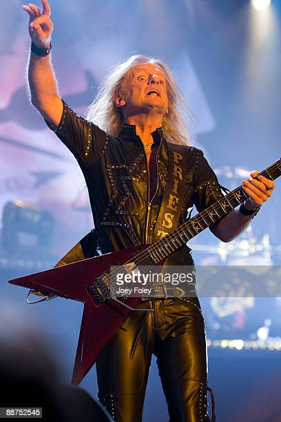 K K Downing of Judas Priest performs in the opening date of their Summer Tour at the Egyptian Room Murat Centre on June 29 2009 in Indianapolis...