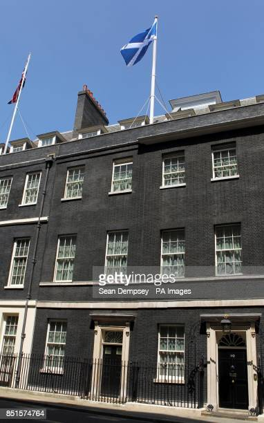Downing Street flying the Scottish Saltire to mark the occasion of Andy Murray playing in the Wimbledon final