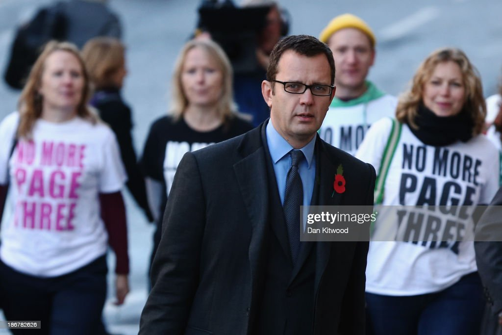 Downing Street's former director of communications and former News Of The World editor <a gi-track='captionPersonalityLinkClicked' href=/galleries/search?phrase=Andy+Coulson&family=editorial&specificpeople=734849 ng-click='$event.stopPropagation()'>Andy Coulson</a> arrives at the Old Bailey for the phone-hacking conspiracy trial on November 4, 2013 in London, England. Downing Street's former director of communications and News Of The World editor <a gi-track='captionPersonalityLinkClicked' href=/galleries/search?phrase=Andy+Coulson&family=editorial&specificpeople=734849 ng-click='$event.stopPropagation()'>Andy Coulson</a> and the former News International chief executive Rebekah Brooks, along with six others, face a series of charges linked to phone hacking celebrities and those in the news at the now-defunct newspaper.