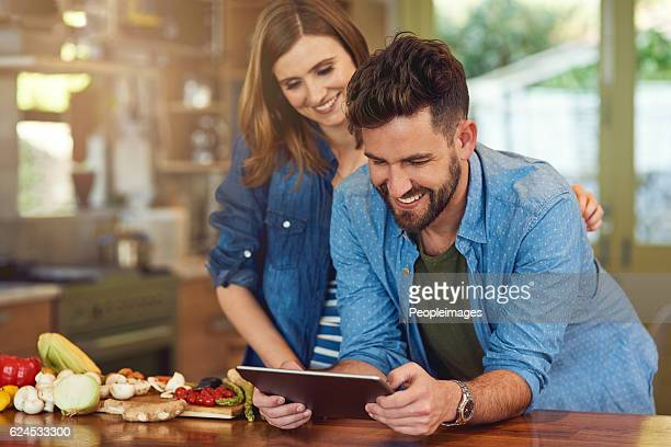 Downloading a healthy meal plan to try as a couple