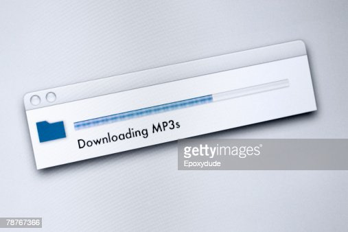 Downloading message on a computer screen
