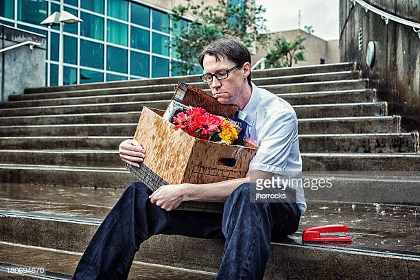 Downsized: Unemployed Businessman