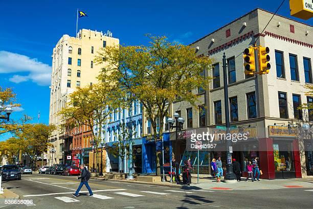 Downtown Ann Arbor street scene on Main Street