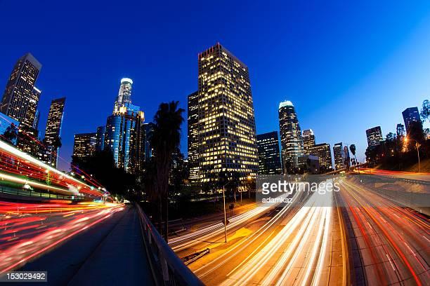 Der Innenstadt von LA bei Nacht
